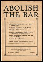 Abolish the bar ...