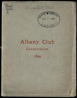 The Albany Club, [incorporated 1882]