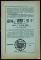 Algoma farmers testify. Compiled by Frederick Rogers