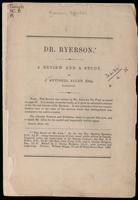 Dr. Ryerson, a review and a study