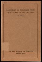 Catalogue of a loan collection of paintings from the National Gallery of Canada : on exhibition from January 8th till February 23rd, 1919 / Art Museum of Toronto