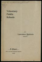 Voluntary public schools, a paper read at the Ontario Educational Association