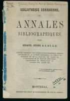 Bibliotheque canadienne; ou, Annales bibliographiques
