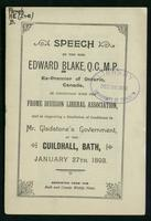 Speech in connection with the Frome Division Liberal Association, and in supporting a resolution of confidence in Mr. Gladstone's government, at the Guildhall, Bath, January 27th, 1893