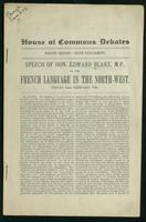 Speech on the French language in the North-West