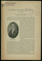 Colonel Mahlon Burwell, land surveyor / by Archibald Blue