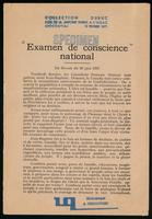 Examen de conscience national : du Devoir du 30 juin 1927