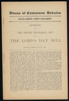 Speech on the Lord's Day bill. Ottawa, Friday, July 6, 1906