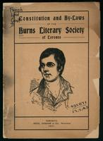 Constitution and by-laws of the Burns Literary Society of Toronto