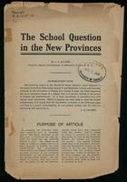 The school question in the new provinces