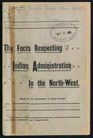 The facts respecting Indian administration in the North-west