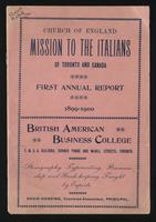 Annual report / Church of England Mission to the Italians of Toronto and Canada