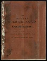 Statement of the De Léry Gold Mining Company, of Canada : chartered by Royal letters patent, July 1st., 1865 ...