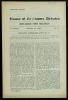 Speeches by Demers, Bourassa and Laurier on Wednesday, July 5, 1905 in the House of Commons