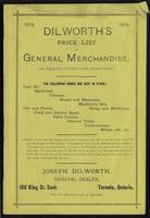 Dilworth's price list of general merchandise, or, Enquire within upon everything ...