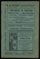 Directory and map of North Toronto / compiled and prepared by the Ontario Free Directory and Map Co. ...