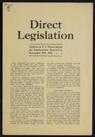 Direct legislation; address by F.J. Dixon before the Presbyterian Synod, on November 15th, 1911
