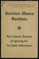 Dominion Alliance manifesto, also citizens' reasons for ignoring the so-called referendum