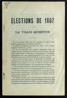Elections de 1887 - La vraie question