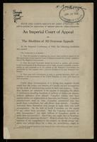 An imperial court of appeal, or the abolition of all overseas appeals