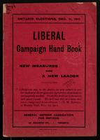 Ontario elections, Dec. 11, 1911: Liberal campaign hand book; new measures and a new leader
