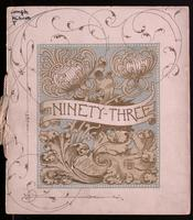 Ninety-three, a calendar for the year our Lord MDCCCXCIII; designed and published by the Toronto Art Students' League