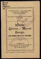 Divine and moral songs, and hymns for little children