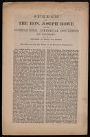 Speech ... at the International Commercial Convention at Detroit. Delivered on Friday, 14th instant.  Specially revised by Mr. Howe for the Hamilton Spectator