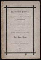 'Death abolished' : a sermon / preached by Hugh Johnston in St. James Street Methodist Church, Montreal, Sunday morning, October 9th, 1881, on the occasion of the death of Mrs. James Ferrier ; published by request