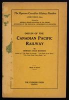 Origin of the Canadian Pacific Railway
