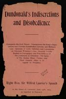 Dundonald's indiscretions and disobedience ... speech in the House of Commons, June 24th, 1904, as reported in Hansard