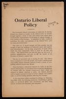 Ontario Liberal policy