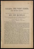 Canada, the West Indies, and British Guiana. Paper read before the Board of Trade of the city of Toronto, by the Hon. John Macdonald ... January, 18, 1889