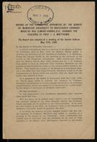 Report of the Committee appointed by the Senate of McMaster University to investigate charges made by Rev. Elmore Harris, D.D., against the teaching of Prof. I.G. Matthews: Report was adopted at a meeting of the Senate held on May 27th, 1909