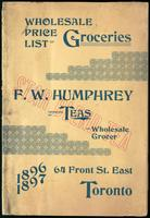 Wholesale price list of groceries ... 1896-1897 / F.W. Humphrey