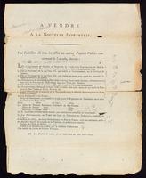 A vendre a la Nouvelle imprimerie : une collection de tous les actes ou autres papiers publics concernant le Canada ...