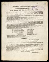 At a meeting held Monday, 7 October, 1822, on the Champ de Mars, consisting of several members of the Legislative Council, of a numerous concourse of citizens respectable from rank, education and fortune, and of individuals of distinction …