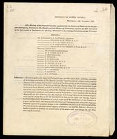 At a meeting of the General Committee appointed for the District of Montreal, for the purpose of preparing petitions to His Majesty and both Houses of Parliament, against the Bill introduced in the last session of Parliament …