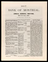 Bank of Montreal. Annual general meeting, held 7th June, 1897.