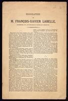 Biographie de Francois-Xavier Labelle, archipretre, etc., et fondateur du College de L'Assomption.