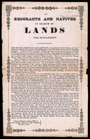 To emigrants and natives in search of lands for settlement