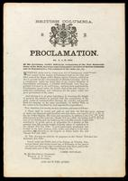 Proclamation, no. 3, A.D. 1863, by His Excellency James Douglas ...