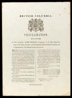 Proclamation, no. 5, A.D. 1861, by His Excellency James Douglas ...