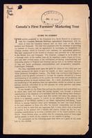 Canada's first farmers' marketing tour; guide to exhibit