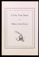 A free verse survey / by William Arthur Deacon