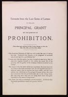 Extracts from the last series of letters by the late Principal Grant on the question of prohibition
