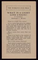 What is a light line union? : a catechism / Margaret C. Munns