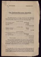The National-Revenue question
