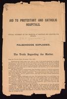 Aid to Protestant and Catholic hospitals; official statement by the inspector of hospitals and charities for Ontario ...