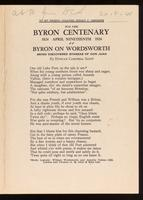 Byron on Wordsworth; being discovered stanzas of Don Juan